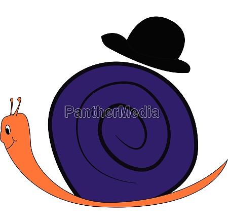cute cartoon of a purple snail