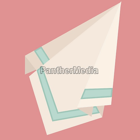 white napkin illustration vector on white