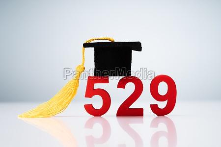 529 nummer zeigen mit miniatur der