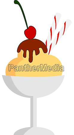 ice cream in cup illustration vector