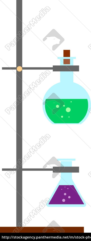 laboratory, , illustration, , vector, on, white, background. - 27496850