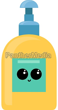 yellow hand soap illustration vector on