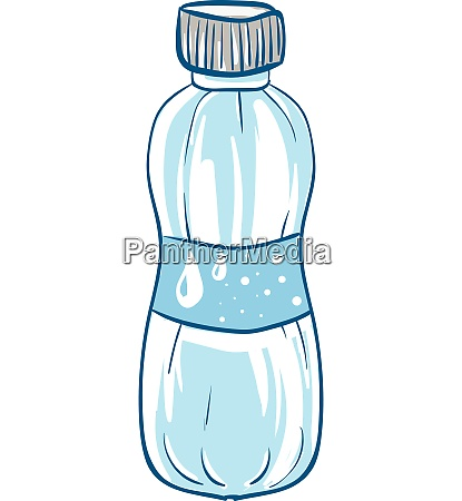 a blue disposable water bottle vector