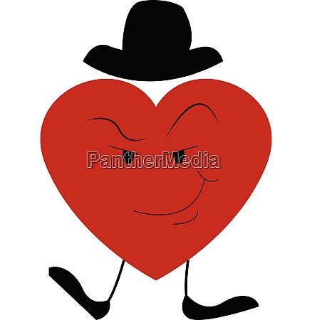 the suspicious red big heart vector