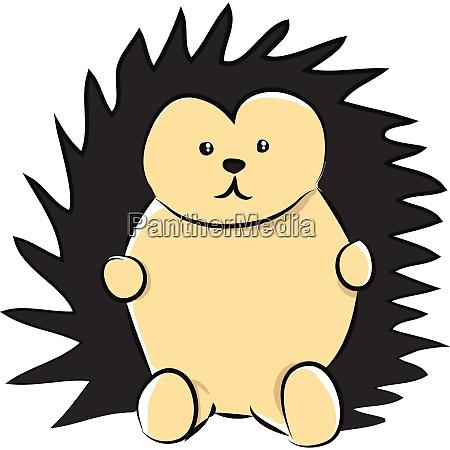 a sad brown colored cartoon hedgehog