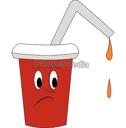 clipart of a sad cup of