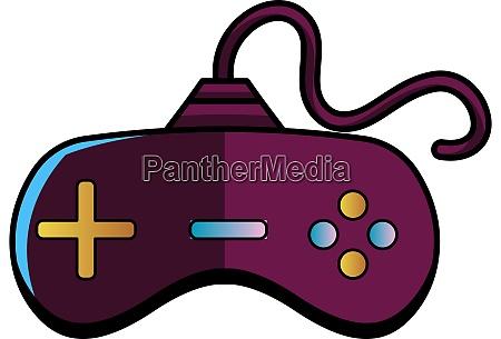 purple joystick illustration vector on white