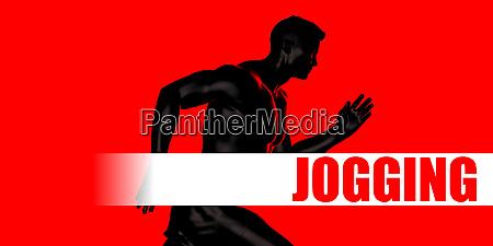 jogging konzept