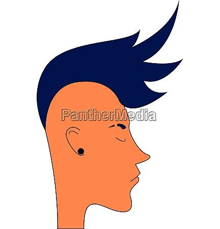 guy mit blauen mohawk frisur
