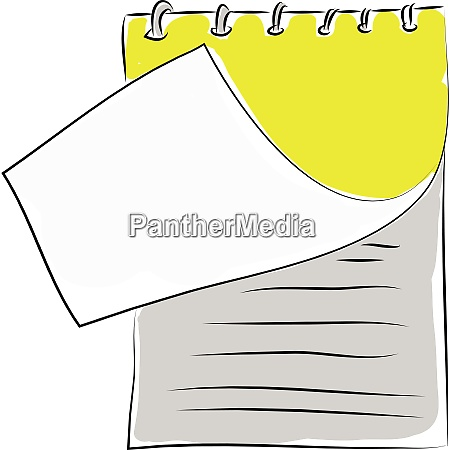 notebook illustration vector on white background