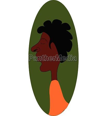 portraet eines jungen schwarzen mannes auf