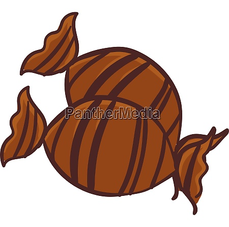 brown candy vector or color illustration