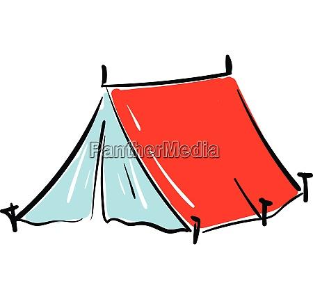 rotes, zelt, illustration, vektor, auf, weißem - 27501030