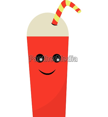 tall fresh cup vector or color
