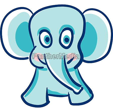 happy elephant vector or color illustration
