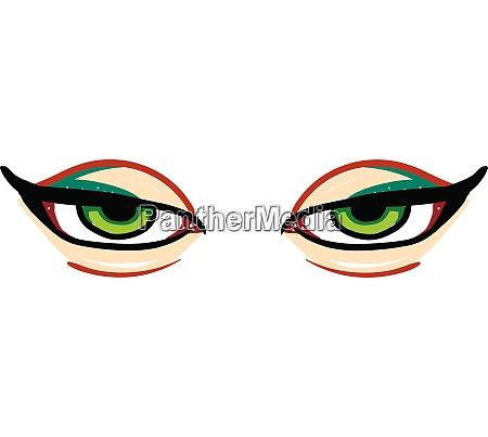 a sharp green eyes vector or