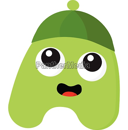 a green monster with green hat