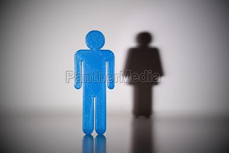 blaue maennliche geschlecht menschliche figur vor
