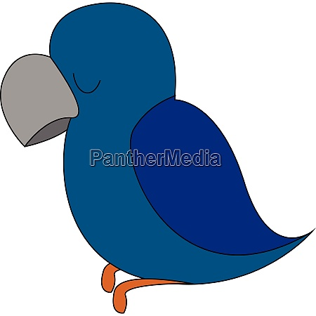a blue parrot vector or color