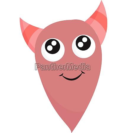 ein haessliches rosa monster mit hoernern