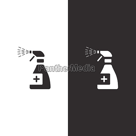 sanitizer spray icon isolated image pharmacy