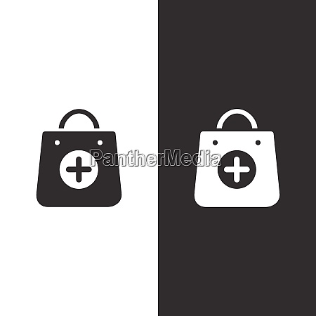 shopping pharmacy bag icon isolated image
