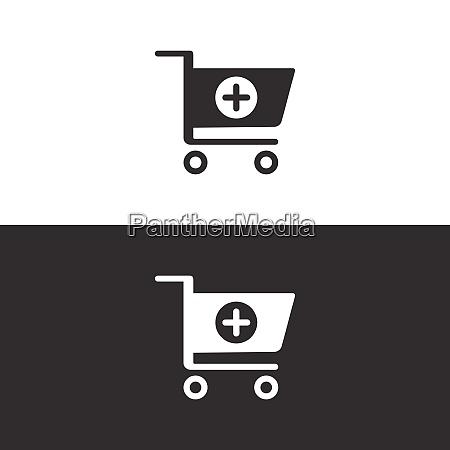 einkaufsapotheke warenkorb symbol isoliertes bild vektor
