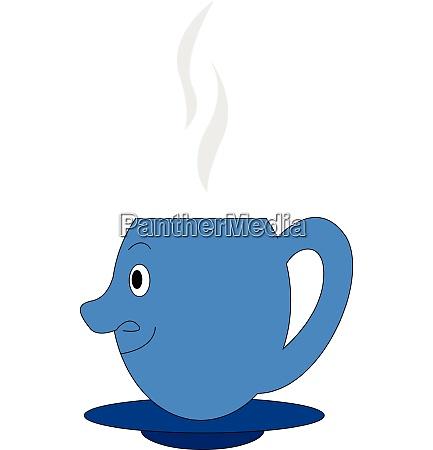 emoji einer blauen kaffeetasse von der
