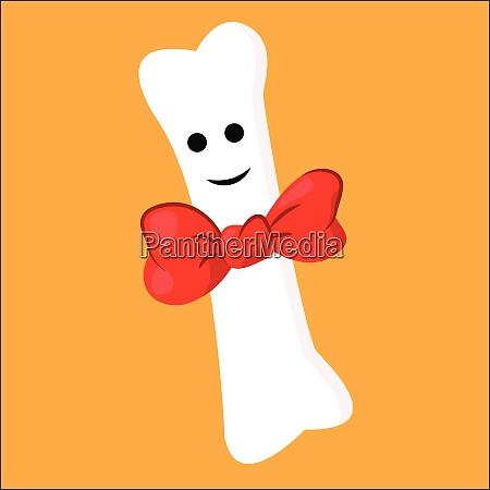 portrait of a white bone wearing