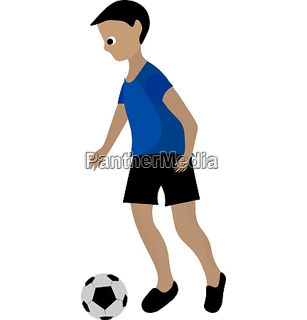 clipart of a boy playing soccer