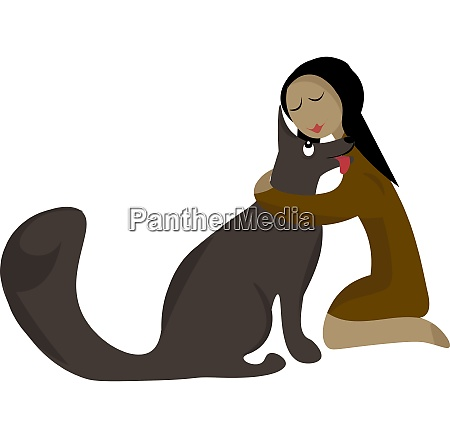 clipart of a girl knelt to