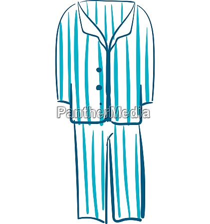 sketch drawing of mens night suit