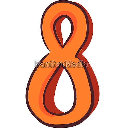 clipart of the numerical number eight