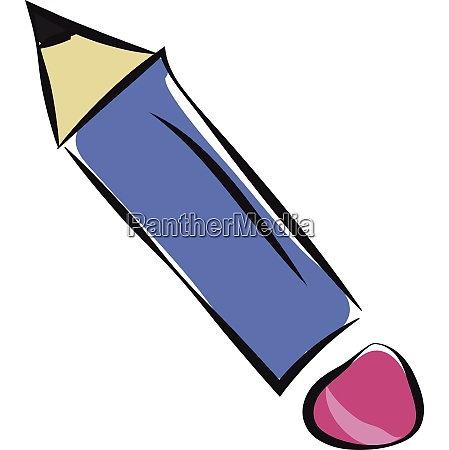 drawing of a blue pencil with