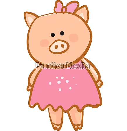 drawing of a cute baby piggiecartoon