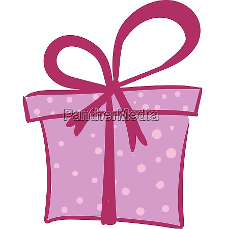 drawing of a purple colored gift