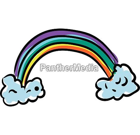 clipart eines bunten regenbogen vektor oder