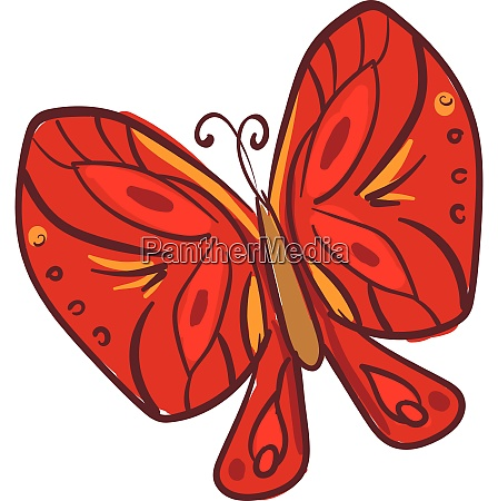 clipart of a red colored butterfly