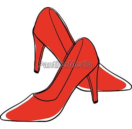 clipart of a pair of red