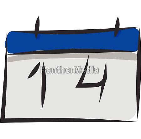 spring clipart blue colored calendar vector