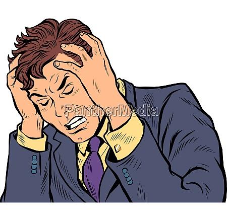kopfschmerzen mann stress oder krankheit