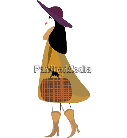 a stylish woman carrying a brown