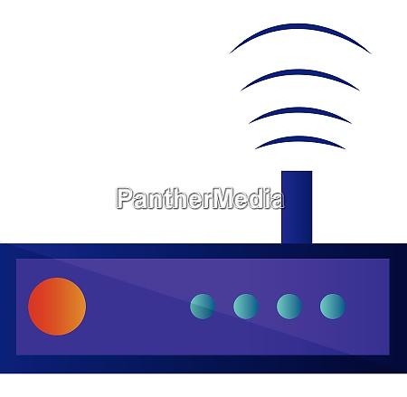 purple radio simple vector illustration on