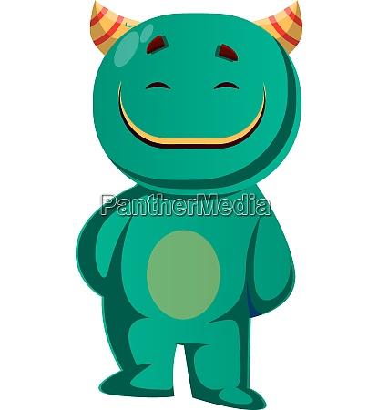 vector illustration of a green monster