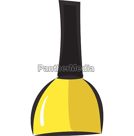 a stylish yellow manicure vector or