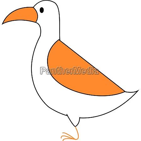 clipart eines weissen vogelvektors oder einer