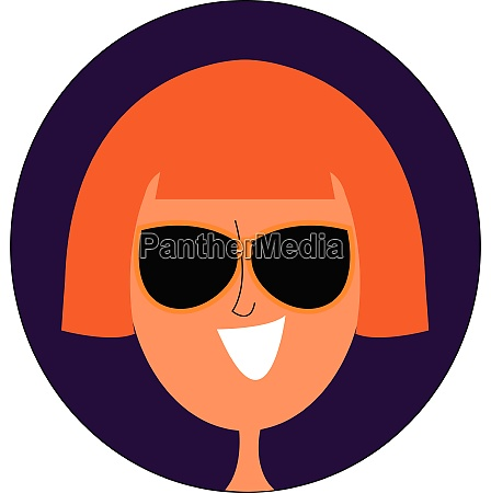 girl with blonde hair vector or