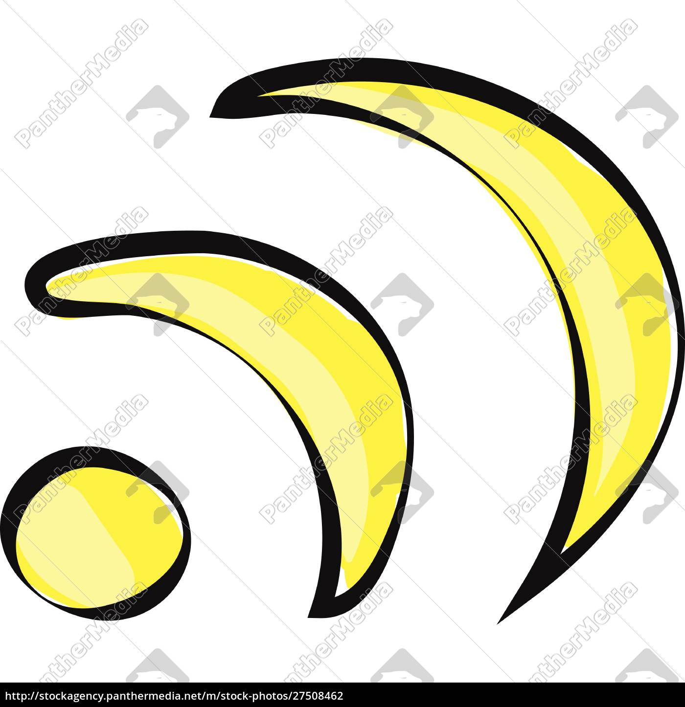 a, yellow, color, illustration, of, wi-fi, - 27508462
