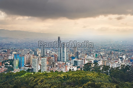 bogota colombia cloudy day