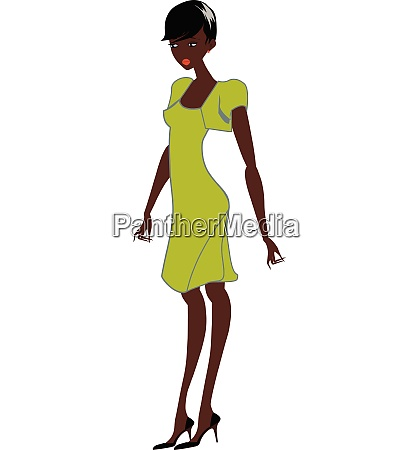 afro woman vector or color illustration
